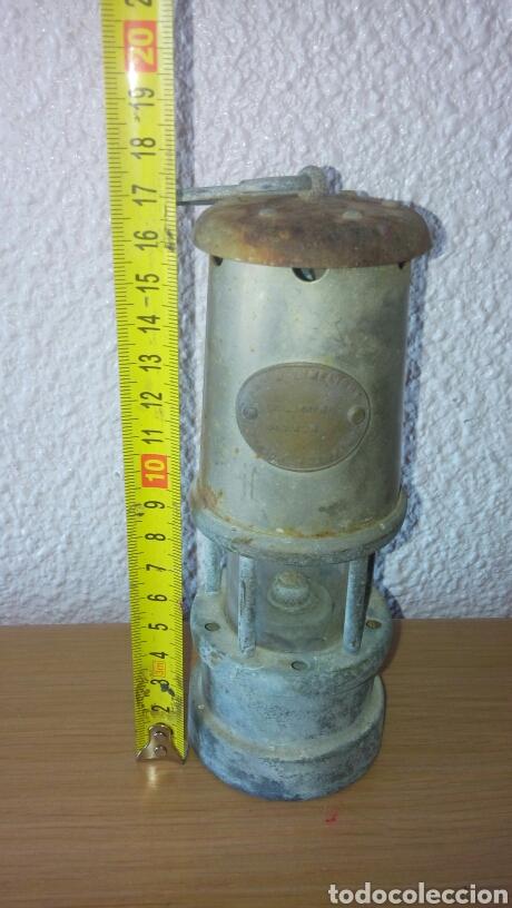 Antigüedades: ANTIGUA LAMPARA FAROL DE MINERO *LAMP & LIMELIGHT* COLLIERY - Foto 15 - 165325872