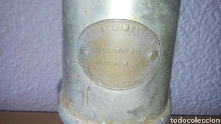 Antigüedades: ANTIGUA LAMPARA FAROL DE MINERO *LAMP & LIMELIGHT* COLLIERY - Foto 18 - 165325872