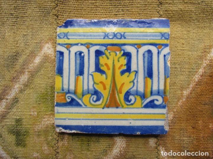 AZULEJO DE TALAVERA (TOLEDO) S. XVII (Antigüedades - Porcelanas y Cerámicas - Azulejos)