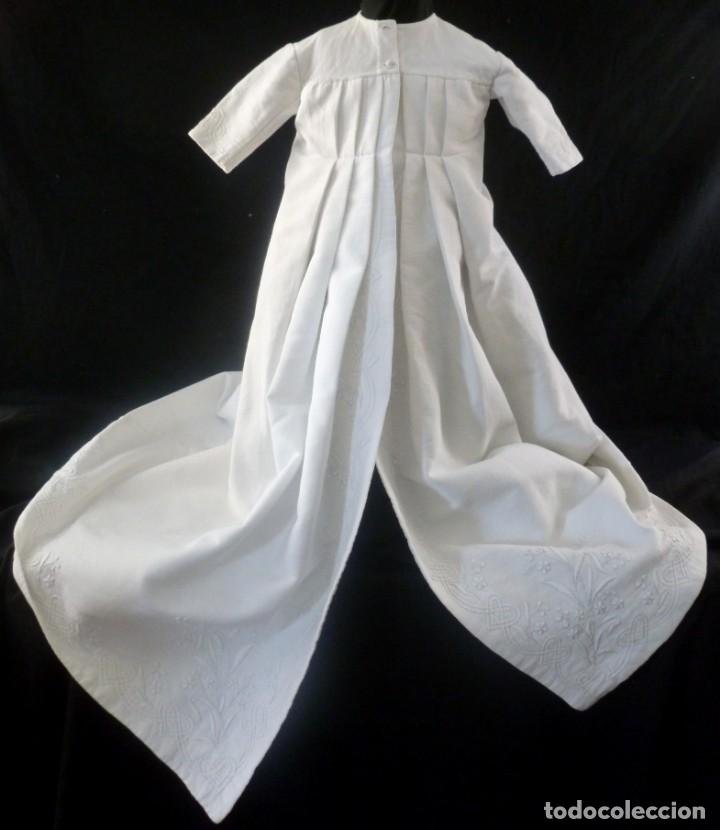 ANTIGUO ABRIGO PIQUE BORDADO PARA NIÑO - MUÑECA PPIO.S.XX (Antigüedades - Moda y Complementos - Infantil)