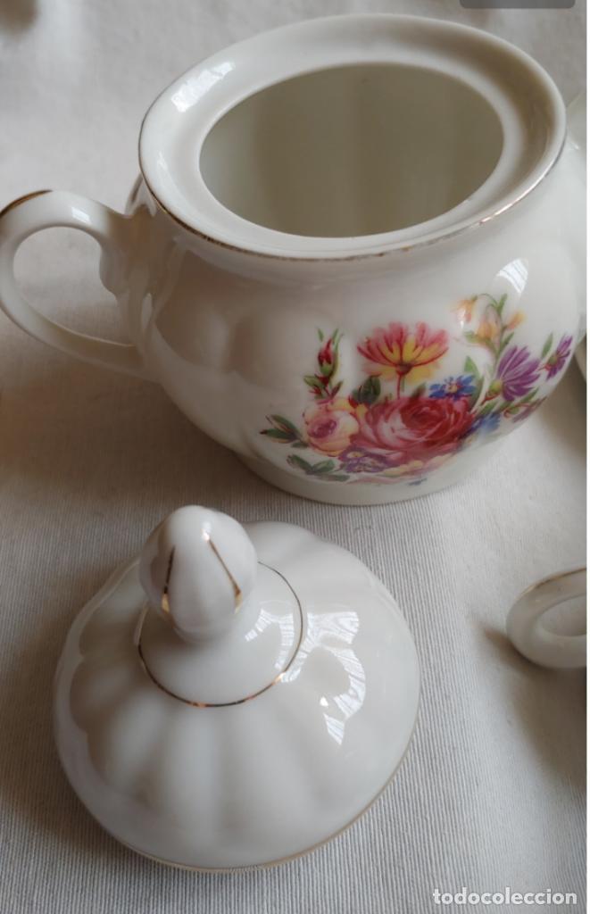 Antigüedades: Antiguo Juego de café SANTA CLARA, 8 servicios con azucarero y jarrita leche - Foto 2 - 165373942