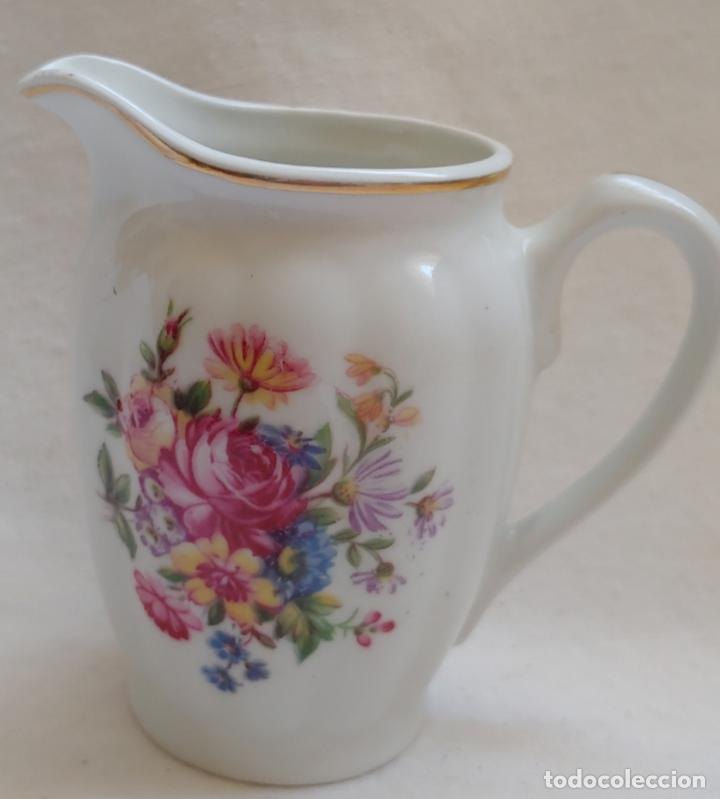 Antigüedades: Antiguo Juego de café SANTA CLARA, 8 servicios con azucarero y jarrita leche - Foto 3 - 165373942