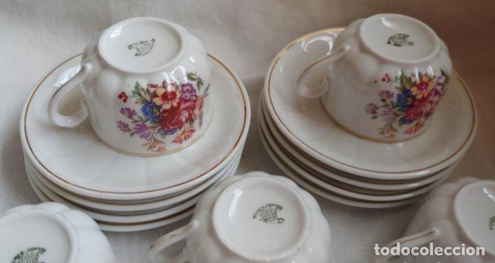 Antigüedades: Antiguo Juego de café SANTA CLARA, 8 servicios con azucarero y jarrita leche - Foto 5 - 165373942