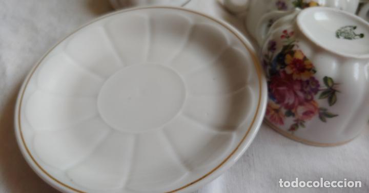 Antigüedades: Antiguo Juego de café SANTA CLARA, 8 servicios con azucarero y jarrita leche - Foto 7 - 165373942