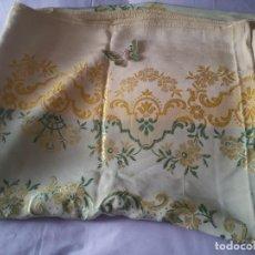 Antigüedades: ANTIGUA COLCHA DE SEDA. Lote 165377438