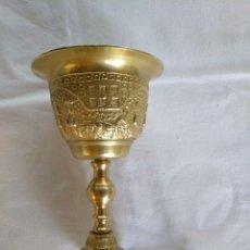Antigüedades: CALIZ EN BRONCE DORADO.. Lote 165380670