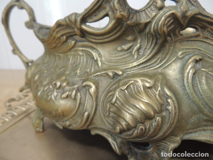 Antigüedades: ANTIGUO CENTRO DE MESA BRONCE - Foto 13 - 146763558