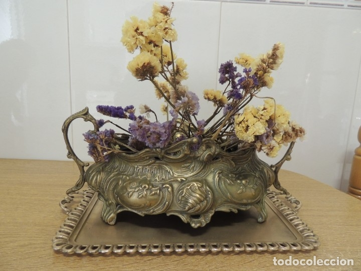 Antigüedades: ANTIGUO CENTRO DE MESA BRONCE - Foto 2 - 146763558