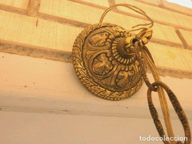 Antigüedades: FAROL LAMPARA TECHO BRONCE CILINDRICO CRISTAL TALLADO (AÑOS 60-70) ALTURA 38 CM - Foto 4 - 165384454