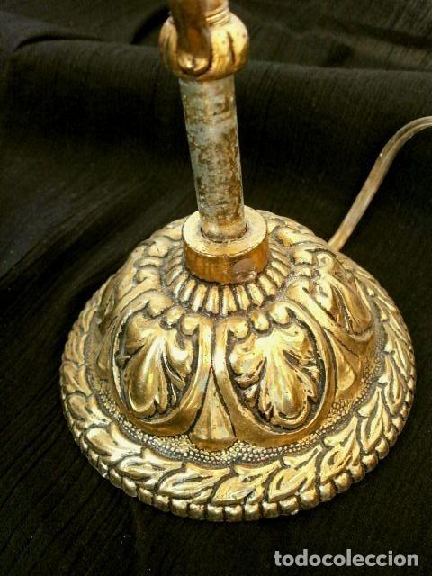 Antigüedades: FAROL LAMPARA TECHO BRONCE CILINDRICO CRISTAL TALLADO (AÑOS 60-70) ALTURA 38 CM - Foto 12 - 165384454