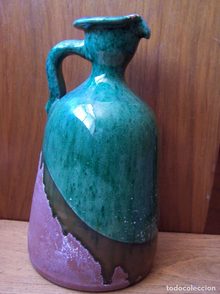 Antigüedades: Aceitera de cerámica, firmada. Tito Úbeda. Altura:21,50 cm. - Foto 2 - 165389106