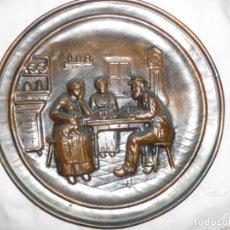 Antigüedades: PLATO DE COBRE REPUJADO. Lote 165391966
