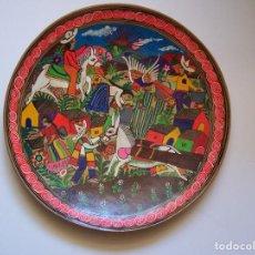 Antigüedades: PLATO DE CERÁMICA PINTADO A MANO RECUERDO DE ACAPULCO (MEXICO). FIRMADA POR EL REVERSO.. Lote 165392722