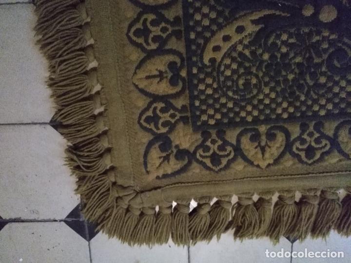 Antigüedades: ESPECTACULAR Alfombra DE LANA HECHA A MANO CON BELLOS FLECOS DE BORLAS 195 X 105 CM BUEN ESTADO - Foto 13 - 165393506