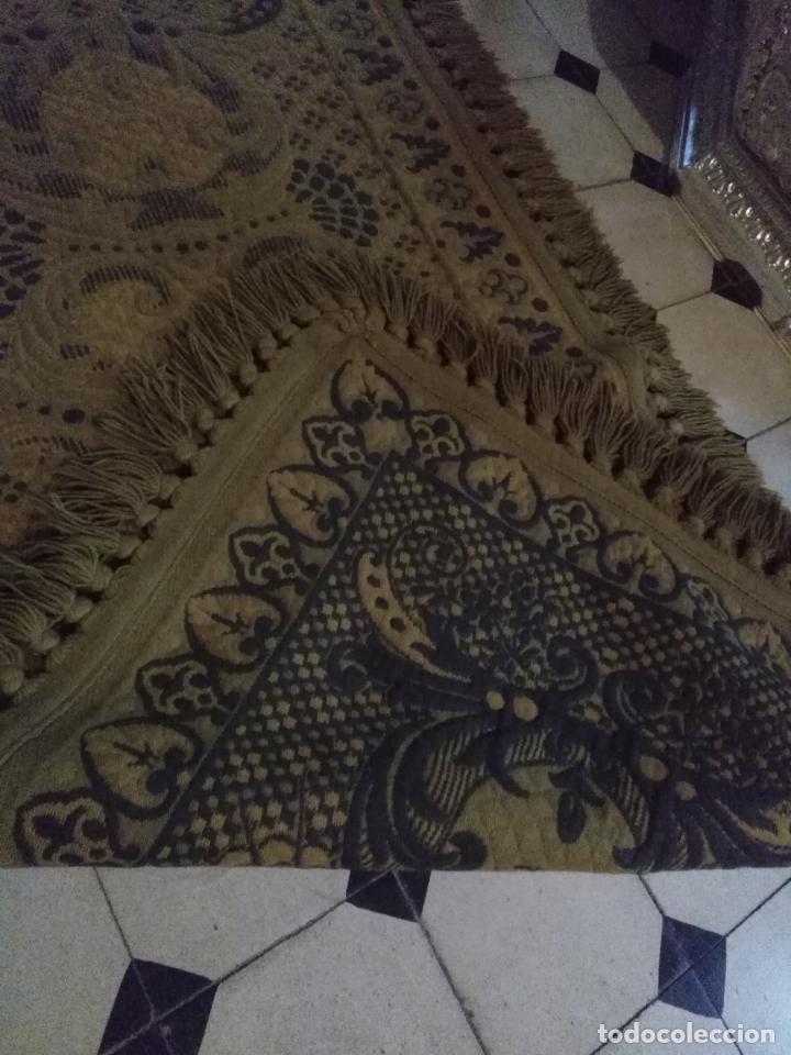 Antigüedades: ESPECTACULAR Alfombra DE LANA HECHA A MANO CON BELLOS FLECOS DE BORLAS 195 X 105 CM BUEN ESTADO - Foto 16 - 165393506