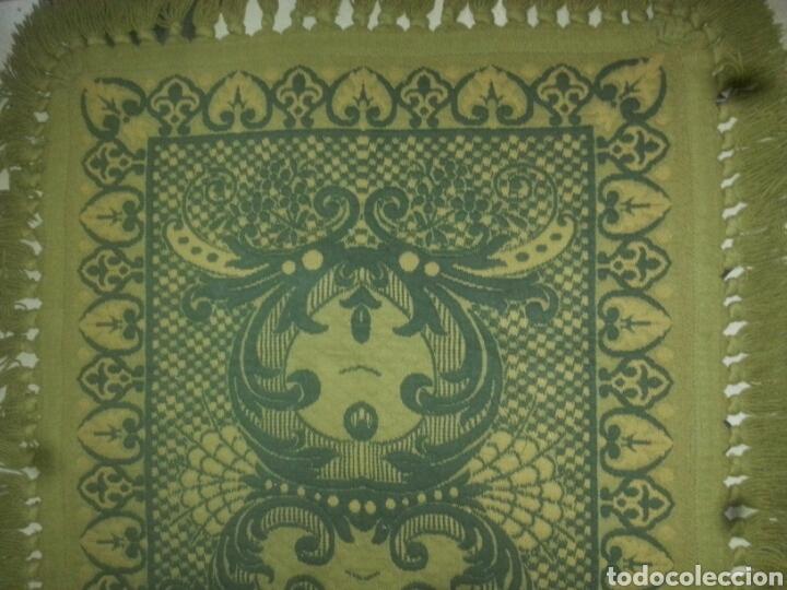Antigüedades: ESPECTACULAR Alfombra DE LANA HECHA A MANO CON BELLOS FLECOS DE BORLAS 195 X 105 CM BUEN ESTADO - Foto 4 - 165393506