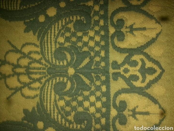 Antigüedades: ESPECTACULAR Alfombra DE LANA HECHA A MANO CON BELLOS FLECOS DE BORLAS 195 X 105 CM BUEN ESTADO - Foto 7 - 165393506