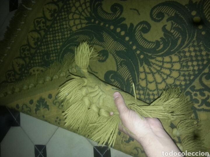 Antigüedades: ESPECTACULAR Alfombra DE LANA HECHA A MANO CON BELLOS FLECOS DE BORLAS 195 X 105 CM BUEN ESTADO - Foto 8 - 165393506
