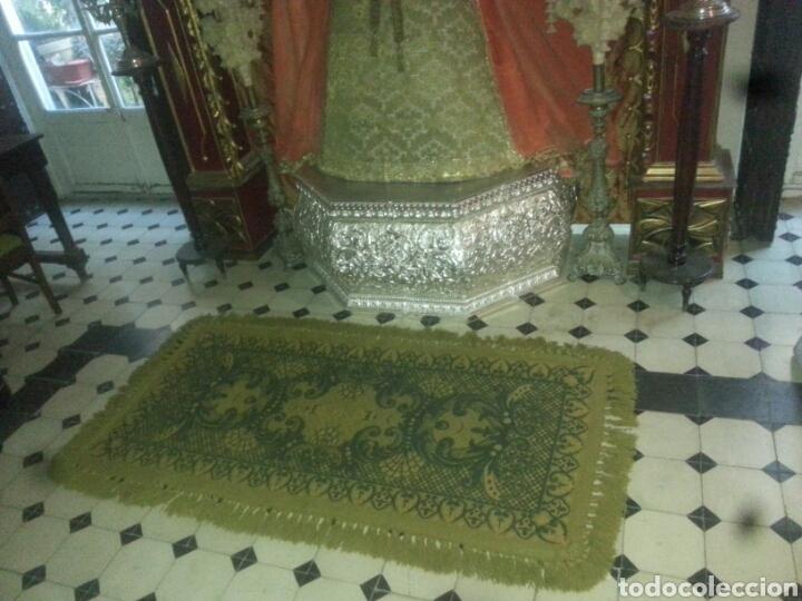 Antigüedades: ESPECTACULAR Alfombra DE LANA HECHA A MANO CON BELLOS FLECOS DE BORLAS 195 X 105 CM BUEN ESTADO - Foto 2 - 165393506