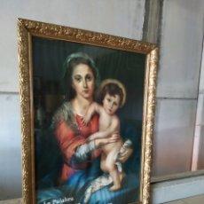Antigüedades: CUADRO DE MADERA CON CRISTAL. Lote 165397394