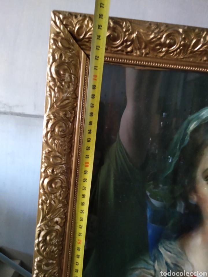 Antigüedades: Cuadro de madera con cristal - Foto 2 - 165397394