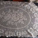 Antigüedades: MANTEL TAPETE OVALADO GANCHILLO CROCHET . Lote 165408670