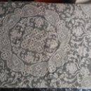 Antigüedades: MANTEL TAPETE REDONDO GANCHILLO CROCHET BLANCO . Lote 165409570
