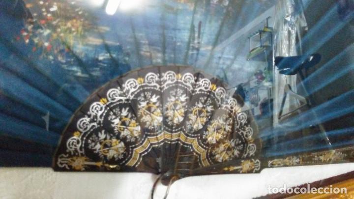 Antigüedades: ABANICO DE SEDA Y ÉBANO MUY ANTIGUO - Foto 2 - 165409774