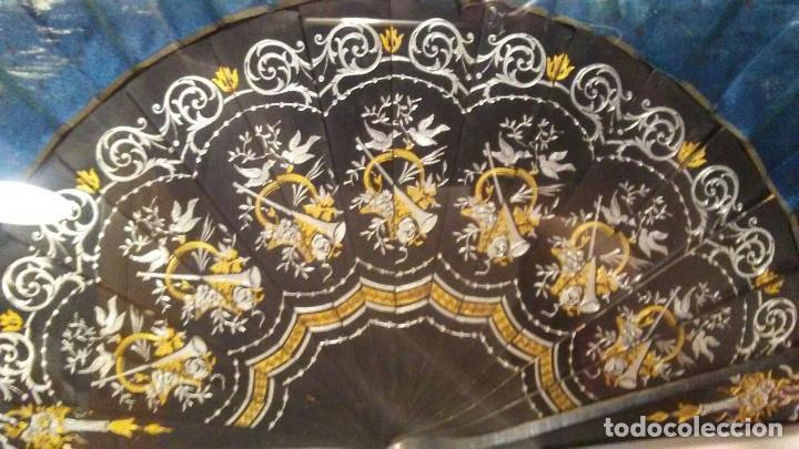 Antigüedades: ABANICO DE SEDA Y ÉBANO MUY ANTIGUO - Foto 18 - 165409774
