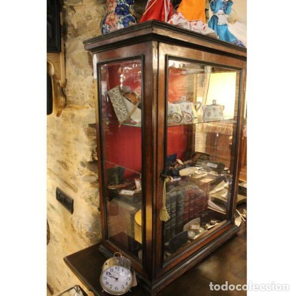Antigüedades: Antigua vitrina de palisandro - Foto 3 - 165417106