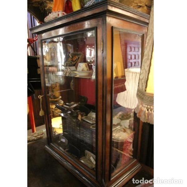 Antigüedades: Antigua vitrina de palisandro - Foto 4 - 165417106