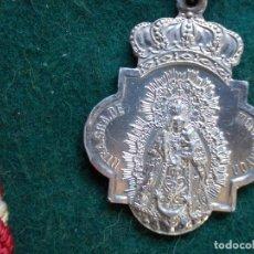 Antigüedades: MEDALLA ANTIGUA CON CORDO NUESTRA SEÑORA DE MONTEMAYOR MOGUER. Lote 165447906