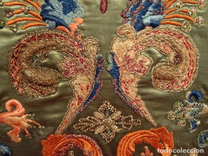 Antigüedades: Frente Bordado Sglo XIX - Foto 11 - 165448182