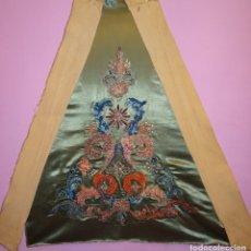 Antigüedades: FRENTE BORDADO SGLO XIX. Lote 165448182