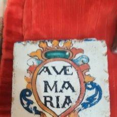 Antiquitäten - Azulejo pintado ave María - 165471918