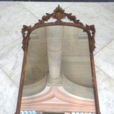 Antigüedades: ESPEJO MADERA TALLADA SIGLO XIX. Lote 165474161