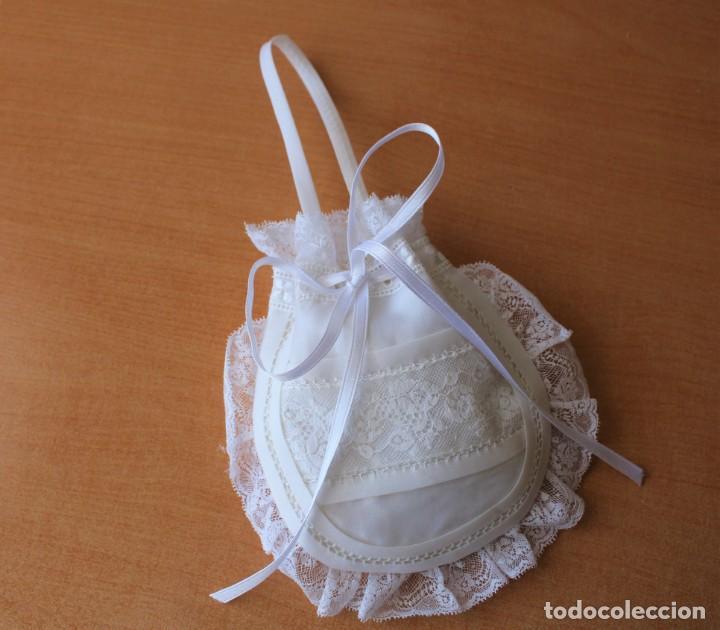 BOLSO DE 1ª COMUNIÓN DE PUNTILLA (Antigüedades - Moda - Bolsos Antiguos)