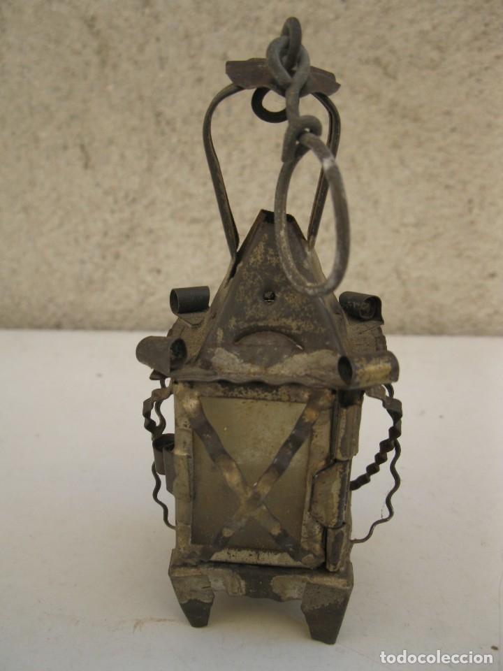 Antigüedades: ANTIGUO FAROLILLO DE HOJALATA EN MINIATURA. - Foto 2 - 165491938