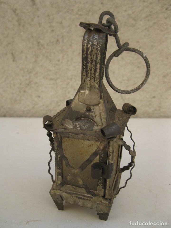 Antigüedades: ANTIGUO FAROLILLO DE HOJALATA EN MINIATURA. - Foto 3 - 165491938