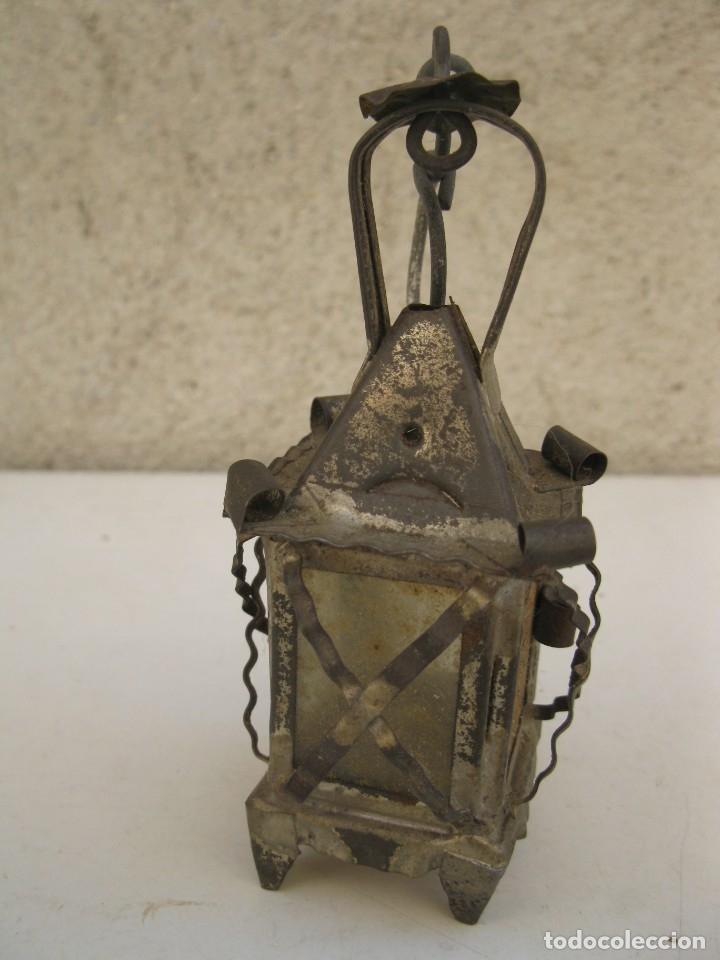 Antigüedades: ANTIGUO FAROLILLO DE HOJALATA EN MINIATURA. - Foto 4 - 165491938