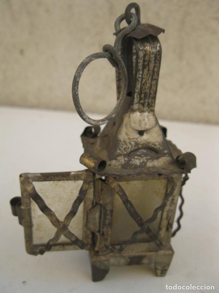 Antigüedades: ANTIGUO FAROLILLO DE HOJALATA EN MINIATURA. - Foto 7 - 165491938