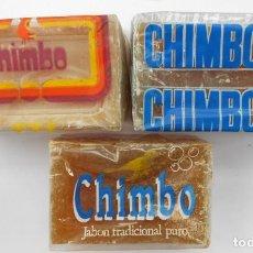 Antigüedades: 3 ANTIGUAS PASTILLAS JABON CHIMBO. VER FOTOS. Lote 165494722