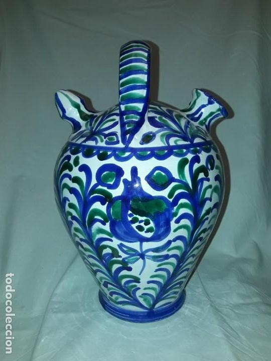 PRECIOSO BOTIJO CERÁMICA FAJALAUZA GRANADA (Antigüedades - Porcelanas y Cerámicas - Fajalauza)
