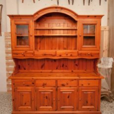 Antigüedades: APARADOR PINO RÚSTICO. Lote 165502258