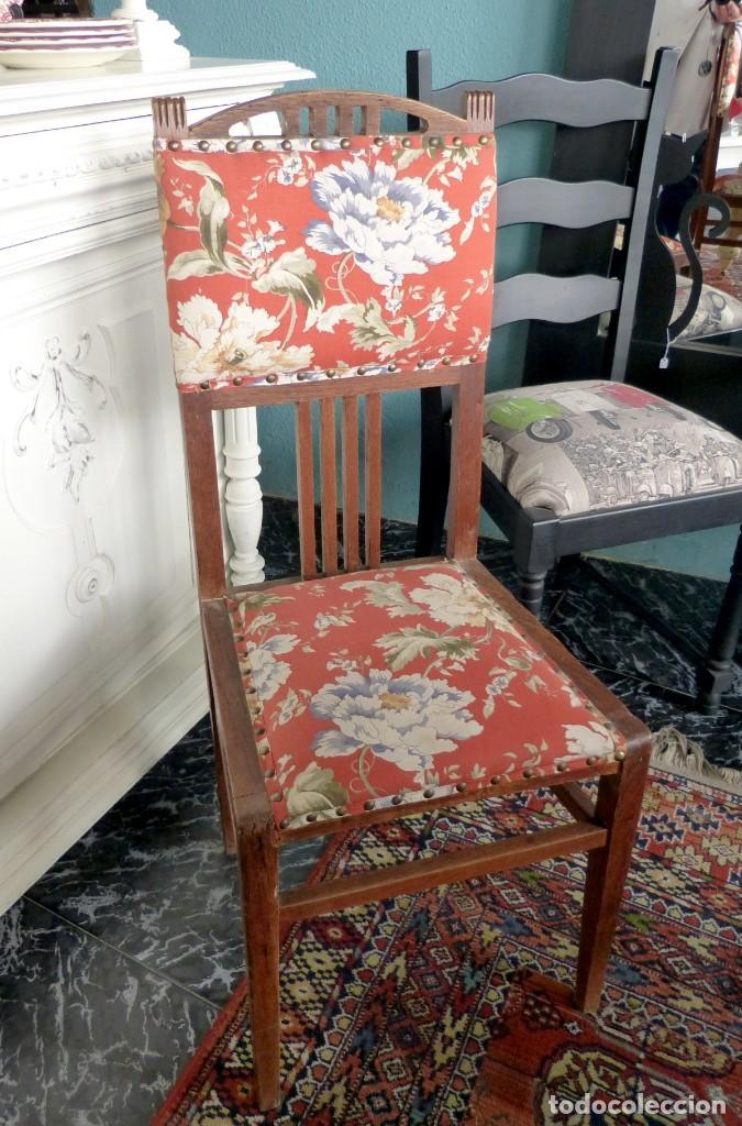Antigüedades: Conjunto de 6 sillas modernistas - Foto 2 - 165527966