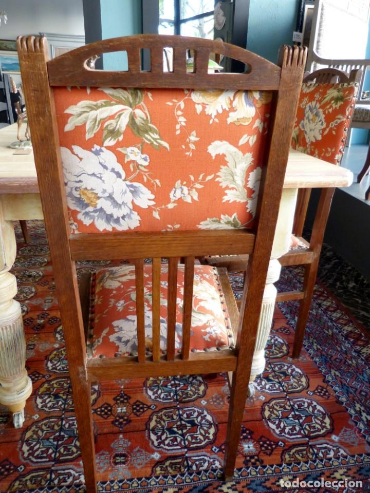 Antigüedades: Conjunto de 6 sillas modernistas - Foto 4 - 165527966