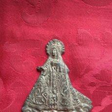 Antigüedades: ANTIGUO TROQUEL - PLACA VIRGEN DEL ROSARIO. Lote 165532572
