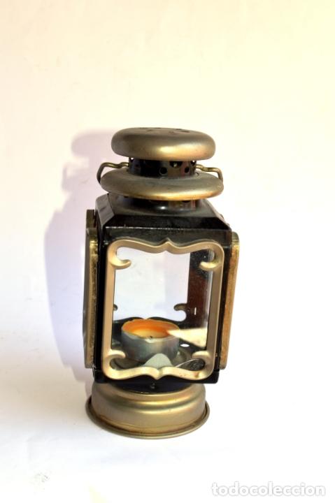 Antigüedades: FAROLILLO DE 19 CM DE ALTO POR 9 DE ANCHO - Foto 7 - 165556158
