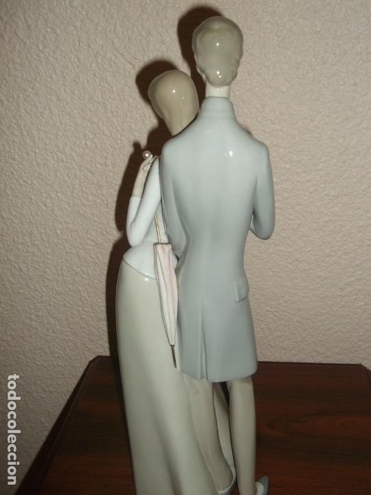Antigüedades: Figura porcelana Rosal Lladro . Pareja enamorados. Brillo. Muy rara. Marcada Rosal Made in Spain. - Foto 10 - 145995650