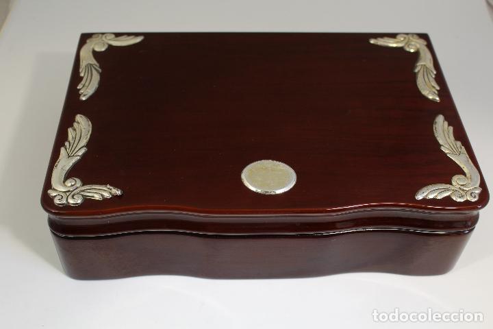 Antigüedades: caja joyero marca cambau en plata de ley 925milesimas - Foto 3 - 176039990